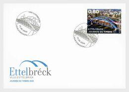 Luxembourg 2020 Stamp Day Nordstad Development Pole Blue Railway Bridge 1EN FDC - FDC