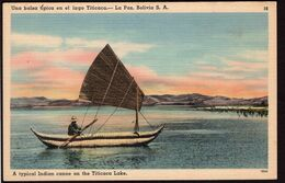 Bolivia - Tarjeta Postal - Una Balsa Típica - Lago Titicaca - A1RR2 - Bolivia