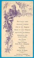 1923 MENU Illustré 11 LIMOUX Aude, Hôtel Moderne COMEMALE (Noce Pebernard) - Menus