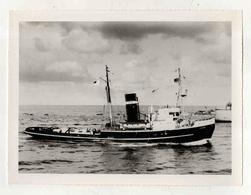 Cx14 A9) Photo Original Portugal Steamer Vapor Sociedade Geral S.N. Rebocador CINTRA 17,5x23cm - Boats