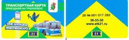 Transport  Card  Russia. Novocheboksarsk  2020 (Small  Town) R - Russland