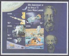 1999Guyana6607-6612KL30th Anniversary Of Apollo 118,00 € - América Del Sur