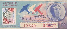 "3 Billets LOTERIE LES AILES BRISEES ,concernant """" LES GRANDS NOMS DE L'AVIATION """" - Loterijbiljetten"