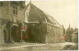 FEINDESLAND . Ardennes- Grandpre -Kino Cinema Lichtspiele  -  Soldats Allemande Guerre 14-18 Carte Photo  WWI - 1914-18