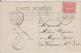 HAUTE SAVOIE CP 1906 PASSY FACTEUR BOITIER T84 + BOITE URBAINE D - 1877-1920: Semi Modern Period