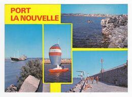 11 PORT LA NOUVELLE En 1977 N°4352 Voilier Sous Spinaker Bateau Cargo Phare Jetée Plongeoir VOIR DOS - Port La Nouvelle