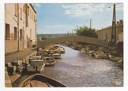 11 PORT LA NOUVELLE Le Petit Canal En 1977 Pont Bateaux VOIR DOS - Port La Nouvelle