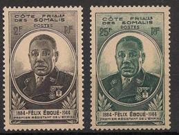 Côte Des Somalis - 1945 - N°Yv. 262 Et 263 - Félix Eboué - Neuf Luxe ** / MNH / Postfrisch - Côte Française Des Somalis (1894-1967)