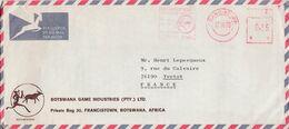 SWAZILAND EMA SUR LETTRE POUR LA FRANCE 1975 - Swaziland (1968-...)