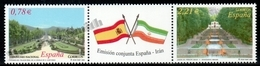 Spain - Espagne 2005 Yvert 3778-79, Gardens, National Heritage, Joint Issue With Iran - Strip / Bande - MNH - 2001-10 Neufs