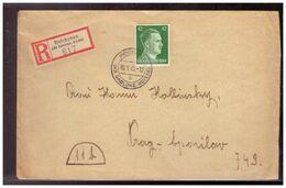 Böhmen Und Mähren (020260) Einschreiben Späte Post Reichenau Nach Prag Gelaufen Am 10.1.1945 - Covers & Documents