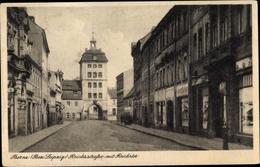 CPA Borna In Sachsen, Reichsstraße, Reichstor - Otros