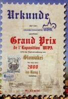 Feuillet Commémoratif Grand Prix Exposition WIPA 2000 - Other