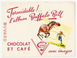 Buvard 16 X 12 Chocolat Et Café Des GOURMETS L'album Buffalo Bill - Cocoa & Chocolat