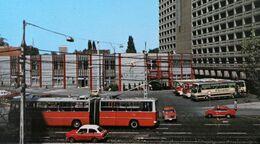 Magyarország BUDAPEST HOTEL VOLGA Autocar Trolleybus HONGRIE Car Bus Automobile HUNGARY Coach  Automobilia - Buses & Coaches