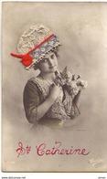 N°14752 - Sainte-Catherine - Photo D'une Femme Portant Un Bonnet En Dentelle - St. Catherine