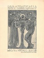 """01956 """"TORINO - PARTECIPAZIONE NASCITA DI LUISA ANNA MICAELA 5/04/1921"""" SCULTORE A. STAGLIANO. ORIG - Geboorte & Doop"""