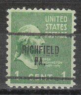 USA Precancel Vorausentwertung Preo, Locals Pennsylvania, Richfield 704 - Vereinigte Staaten