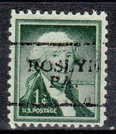 USA Precancel Vorausentwertung Preo, Locals Pennsylvania, Roslyn 701 - Vereinigte Staaten