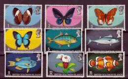Solomon Islands - 1972 Used, Butterflies, Fish, Flowers & Birds Set - Salomoninseln (Salomonen 1978-...)
