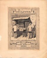 "01961 ""LE VIEUX PAPIER-1900/1925-SOCIETE' HISTORIQUE ARCHEOLOGIQUE ARTISTIQUE"" INCISIONE IN RAME COMMEMORATIVA - Litografia"