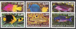 Tr_ Haiti 1973 - Mi.Nr. 1233 - 1238 - Postfrisch MNH - Tiere Animals Fische Fishes - Fishes
