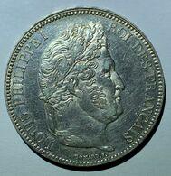 5 Francs Argent Louis-Philippe I (Domard), 1833, Paris, TTB - J. 5 Francs