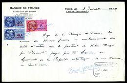 Numismatique - Autographe De Clément SERVEAU (1886-1972) - ARTISTE-PEINTRE D'un Billet BDF - VICTOR HUGO - Billets