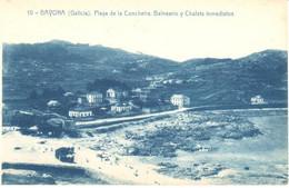 POSTAL    BAYONA  -GALICIA  -PLAYA DE LA CONCHEIRA-BALNEARIO Y CHALETS INMEDIATOS - Sonstige