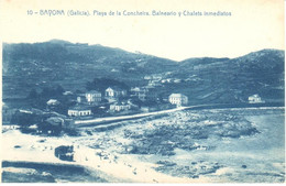 POSTAL    BAYONA  -GALICIA  -PLAYA DE LA CONCHEIRA-BALNEARIO Y CHALETS INMEDIATOS - Other