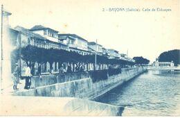 POSTAL    BAYONA  -GALICIA  - CALLE DE ELDUAYEN - Other