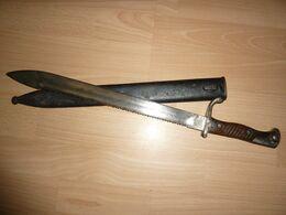 Baionnette  Mauser S98/05 1er Type Dents De Scie Pionnier Génie - Knives/Swords