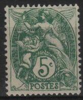 FR 1827 - FRANCE N° 111 Neuf* Type Blanc - 1900-29 Blanc