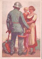 Carte Fête Nationale Suisse 1929, Le Retour Du Soldat, Cachet Bex 1.8.1929 (1817) 10x15 - Other