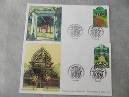 FDC (2) France 2007 : Jardins De France, Parc De La Tête D'or à Lyon (2 Enveloppes) - 2000-2009