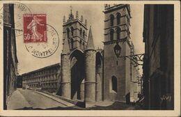 Journée Du Timbre Montpellier YT 160 Semeuse Camée CAD 5 3 39 CP Montpellier Cathédrale St Pierre Faculté Médecine - 1921-1960: Période Moderne