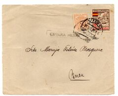 Frontal De Carta  Con Censura Militar  Y Con Sello Especial Movil  Matasellos Vigo - 1931-50 Lettres