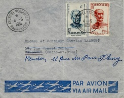 1951- Enveloppe Par Avion  Affr. 7,50 F Oblit. ARCHIPEL KERGUELEN / MADAGASCAR - Madagascar (1889-1960)