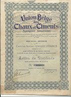 (action)   Union Belge Des Chaux Et Ciments - Autres