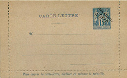ENTIER POSTAL CARTE LETTRE   Type Sage 15 Cts  (taxe Réduite Oblique) LUXE - Letter Cards
