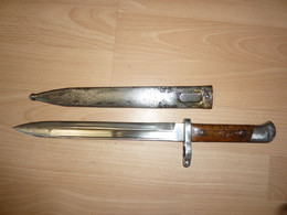 Baionnette  Mannlicher M1888 Fabrication Allemande Alex Coppel Solingen - Knives/Swords