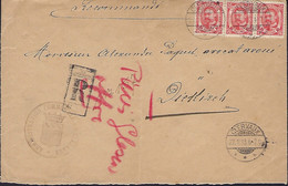 Luxembourg - Luxemburg  -  Lettre Recommandé  1913 - 1906 Guillermo IV