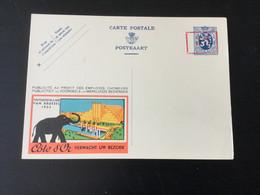 Publibel Neuf N°179A (surcharge à La Pédale) : Côté D'or éléphant - Interi Postali