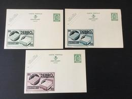 Publibels Neufs N°295 (3 Couleurs) : Matelas Debro - Interi Postali