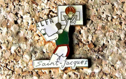 Pin's BASKET - ALFA Saint-Jacques Clermont-Fd (63) - Verni époxy - Fabricant Inconnu - Baloncesto