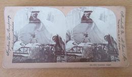 KEYSTONE - Photo Stéréoscopique - Her Guardian Angel / Son Ange Gardien (enfant + Ange) - 1898 - Stereoscopio