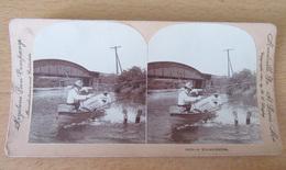 KEYSTONE - Photo Stéréoscopique - Pêche, Humour - A Miscalculation / Une Erreur De Calcul - 1901 - Stereoscopio