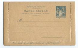 ENTIER POSTAL CARTE LETTRE (avec Réponse Payée) 15cts SAGE Sans Date LUXE - Standard Covers & Stamped On Demand (before 1995)