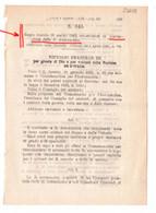 1923 Regio Decreto - Costituzione Della REGIA AERONAUTICA - Historical Documents