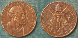 M_p> Vaticano Pio XI 10 Centesimi 1937 - 81.000 Pz Coniati - Vaticano